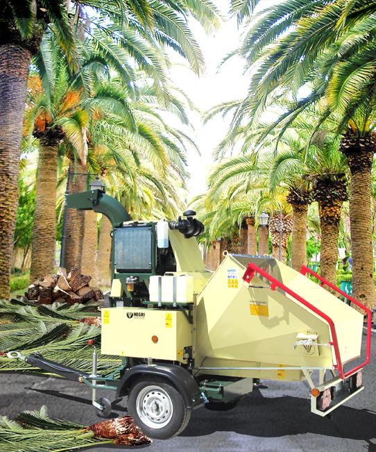 Profesionální mobilní štěpkovač bio - odpadu Negri Bio R280DK260TRON