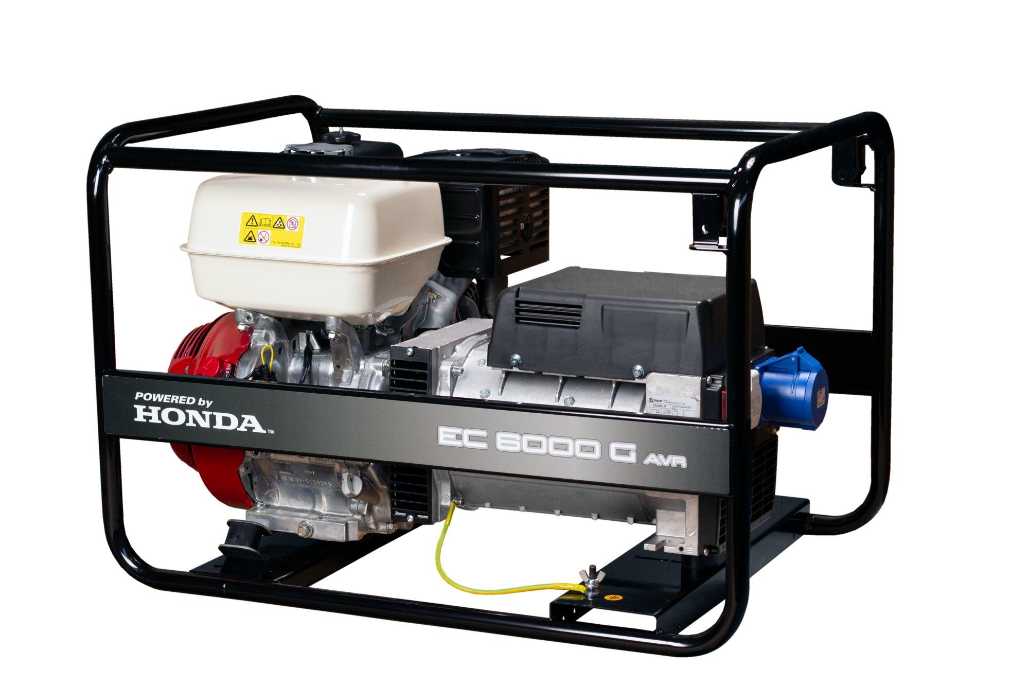 Jednofázová elektrocentrála Honda EC 6000G AVR