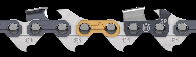 Řetěz Husqvarna X - CUT SP21G .325 1,1 mm 46 článků, kulatý zub
