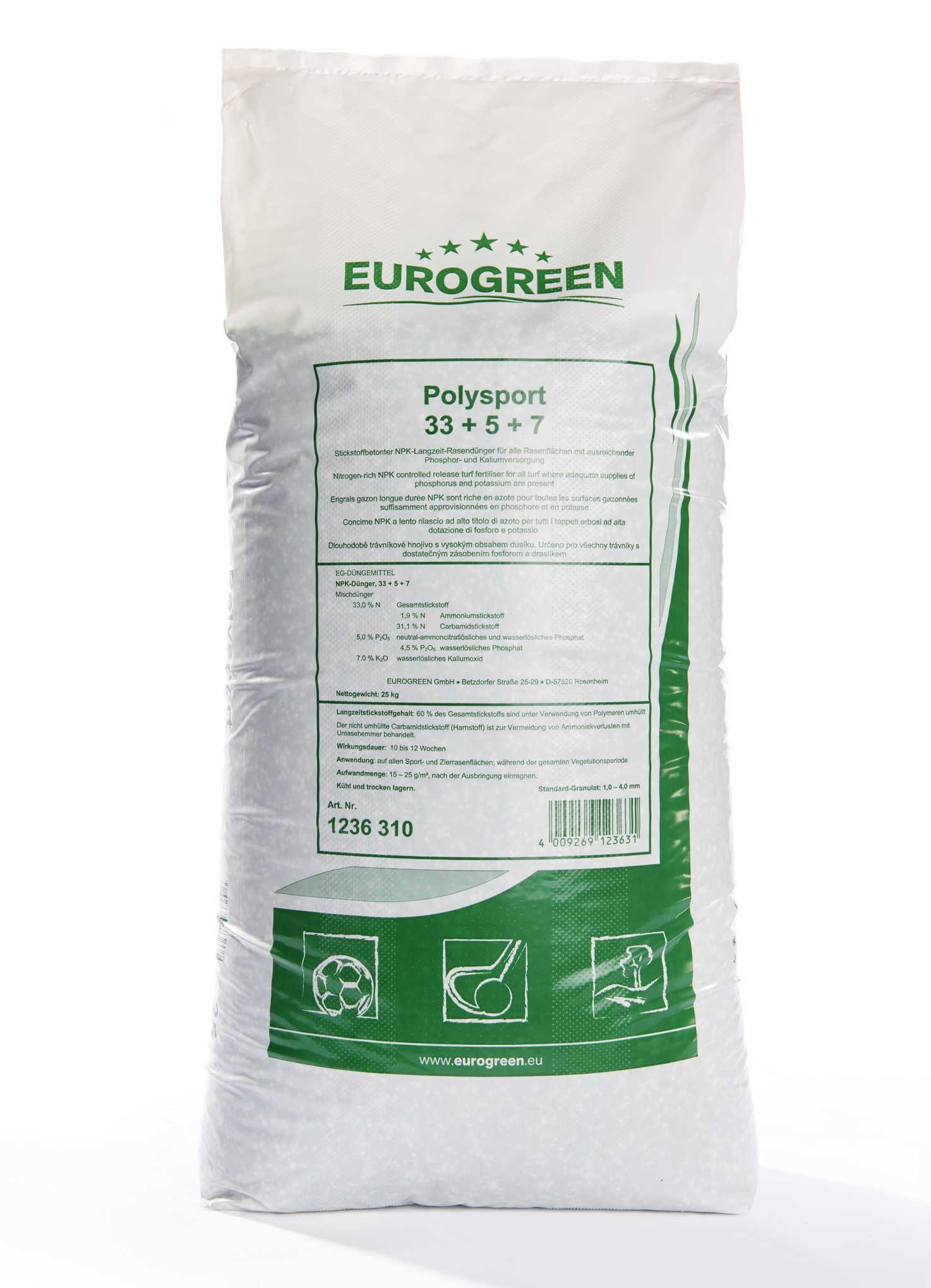 Trávníkové hnojivo Erogreen Polysport 25 kg