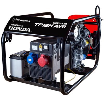 Třífázová elektrocentrála Honda TP 12 H AVR s podvozkem